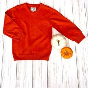 Children's Place Orange Crew V-Neck Sweater 3T